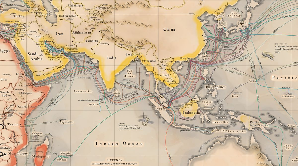 A map of all the underwater cables that connect the internet ... Underwater Cables Map on underwater communication cables, eastward of sea routes map, underwater fiber optic cables, underwater pacific ocean map, pse kv transmission line map, napoli map,