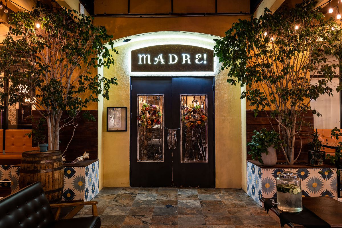 Entrance to Madre, a Oaxacan restaurant and bar in Torrance.