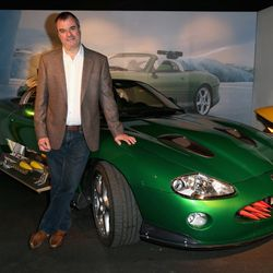 Chris Corbould with Jaguar XKR