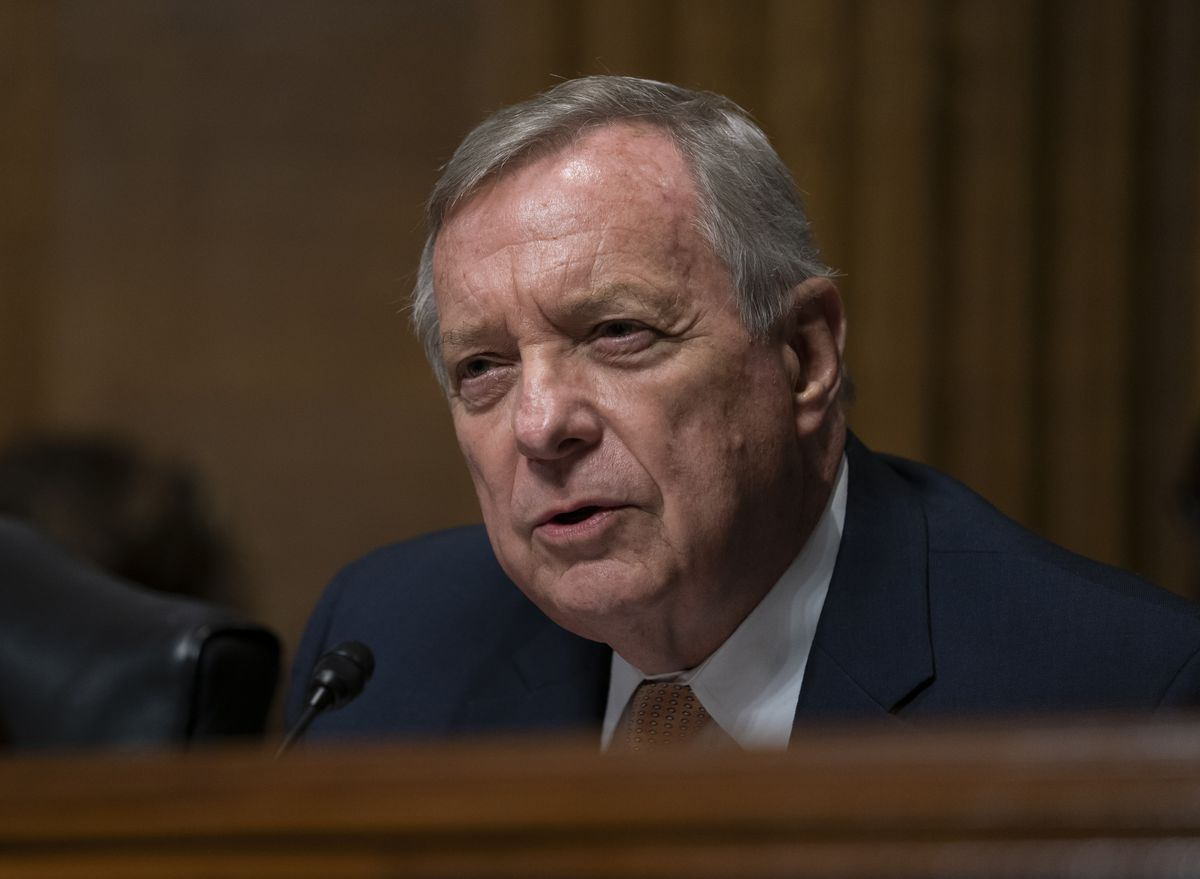 Sen. Dick Durbin, D-Ill., pictured at a Senate Judiciary Committee hearing in Sept. 2019.