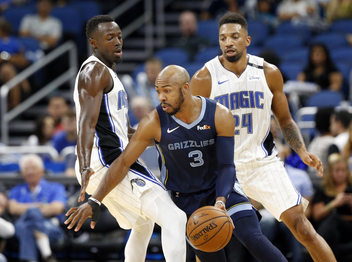 30864c107 Enter Jevon Carter. NBA  Preseason-Memphis Grizzlies at Orlando Magic