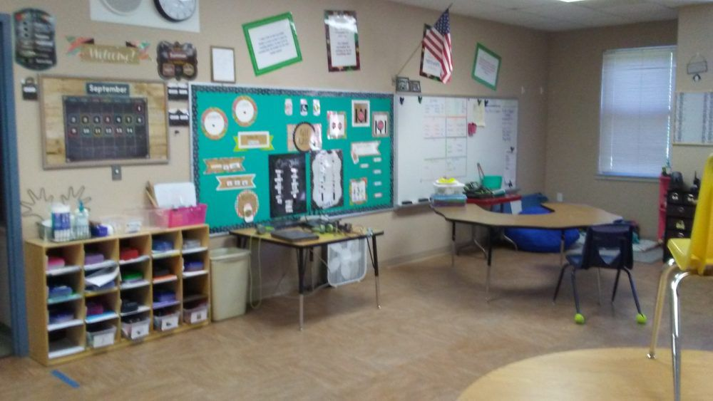 The bulletin board in Laura Keathley's Buena Vista classroom serves as a 411 wall for her students. She purchases all the supplies for the board herself.
