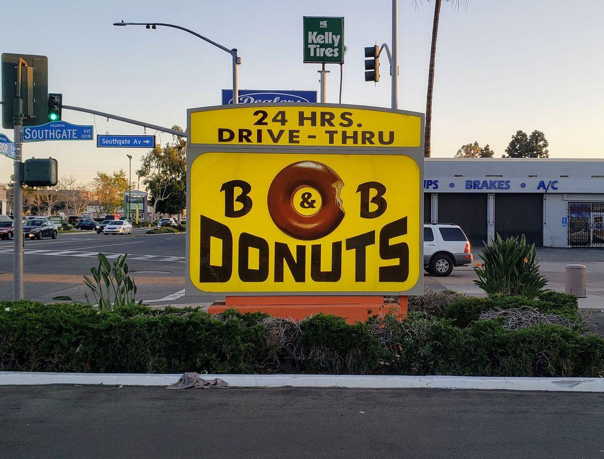 Glazed buttermilk doughnut from B&B Donuts in Fullerton.