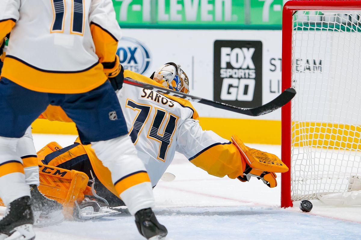 NHL: JAN 24 Predators at Stars