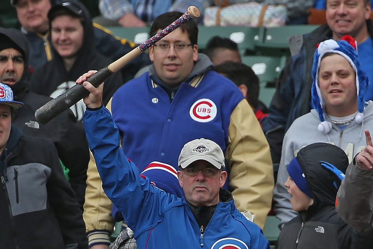 If there were nets in place dugout to dugout at Wrigley, this fan woul dnot have been able to catch this bat