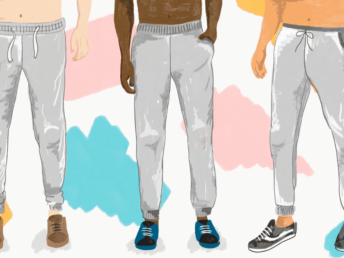 204aafb417 Gray sweatpants season, explained - Vox
