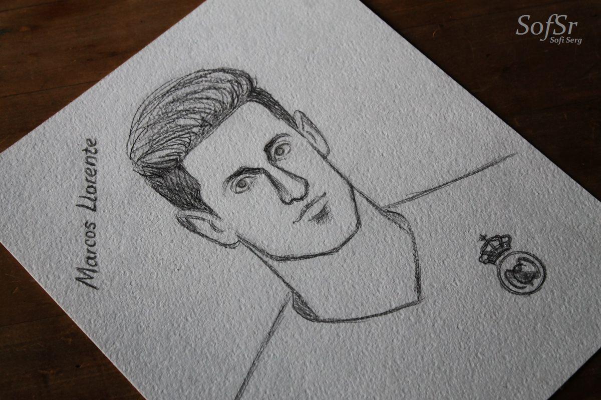 Marcos Llorente. Drawing by Sofi Serg