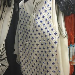 Red, white, and blue beaded top, $159 (was $348)