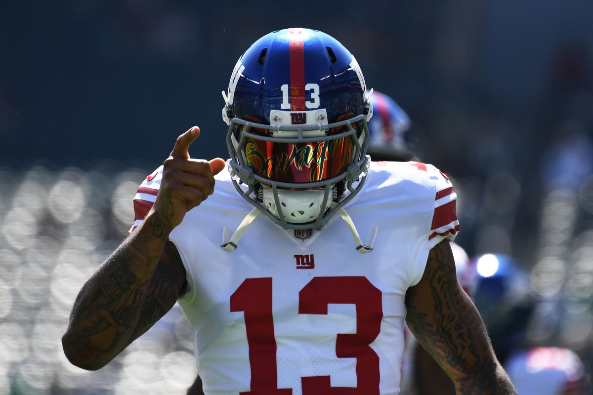 super popular 7f9f3 53716 Odell Beckham Jr. traded to Browns from Giants. It's ...