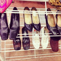 Spotted: Chanel slippers, bottom row.