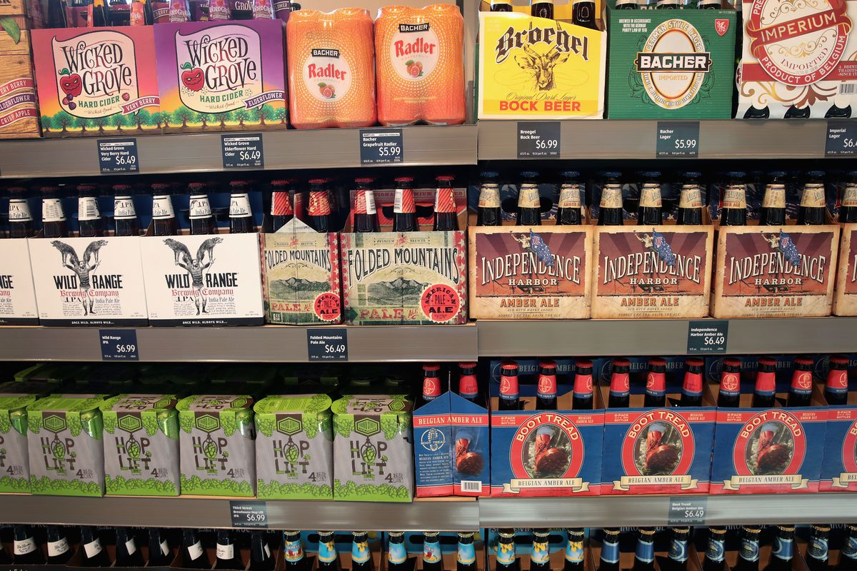 Beer on sale at an Aldi grocery store in Chicago in June 2017.