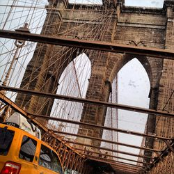 Riding the over the historic Brooklyn Bridge never gets old. In fact, I like sitting in traffic during busy times because I get to see the intimate details of its architecture.