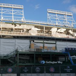 West side of the ballpark