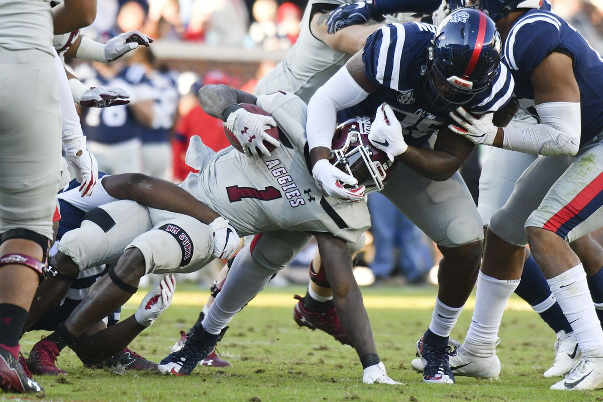 NCAA Football: New Mexico State at Mississippi