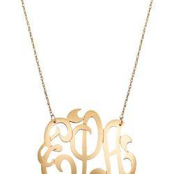 <b>Jane Basch</b> 14K Gold Monogram Necklace, $454 (originally $1,136)