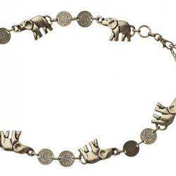 Elephant Chain Belt in Gold $19.99
