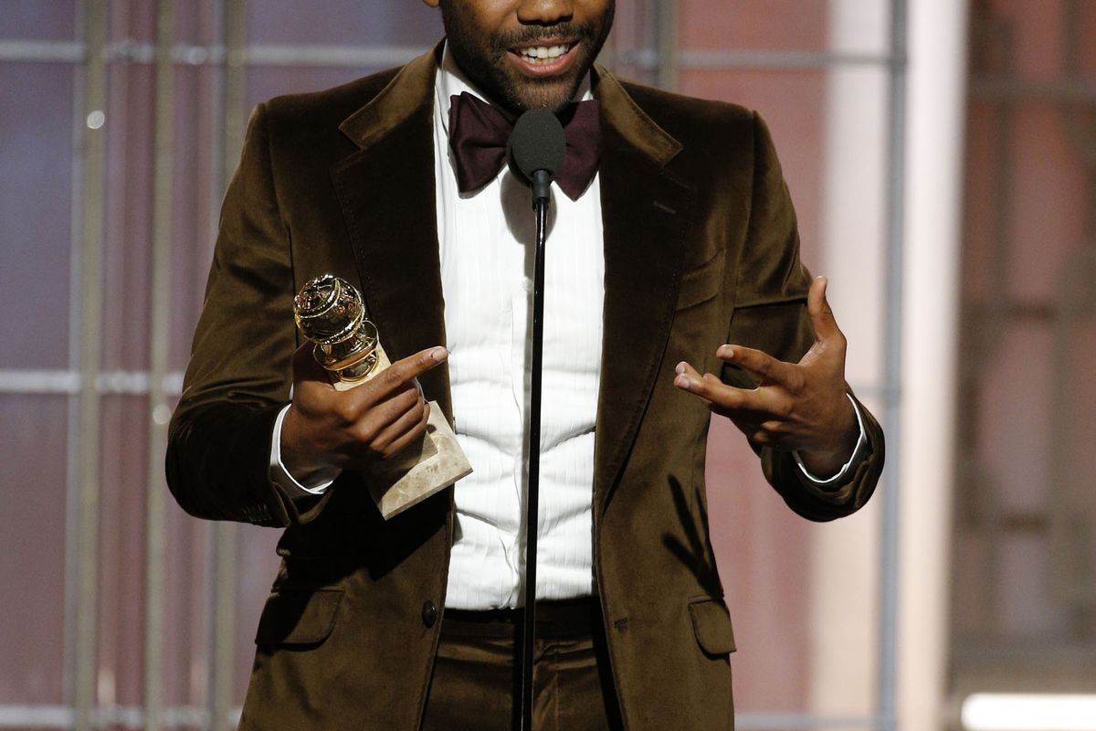 this is donald glover, one of only three living people who know the identity of the childish gambino