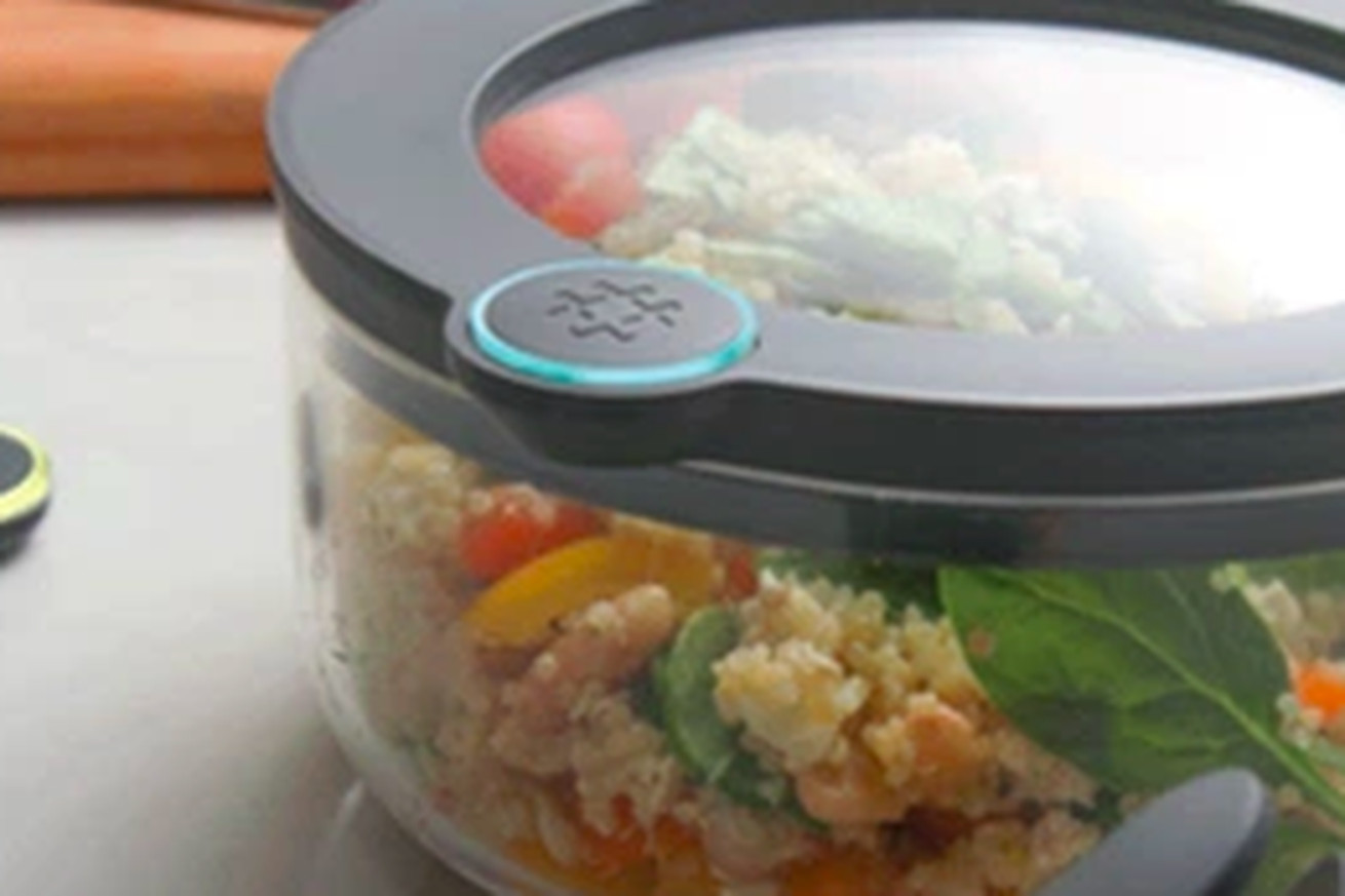 this smart tupperware connects to alexa and warns you when food is about to go bad