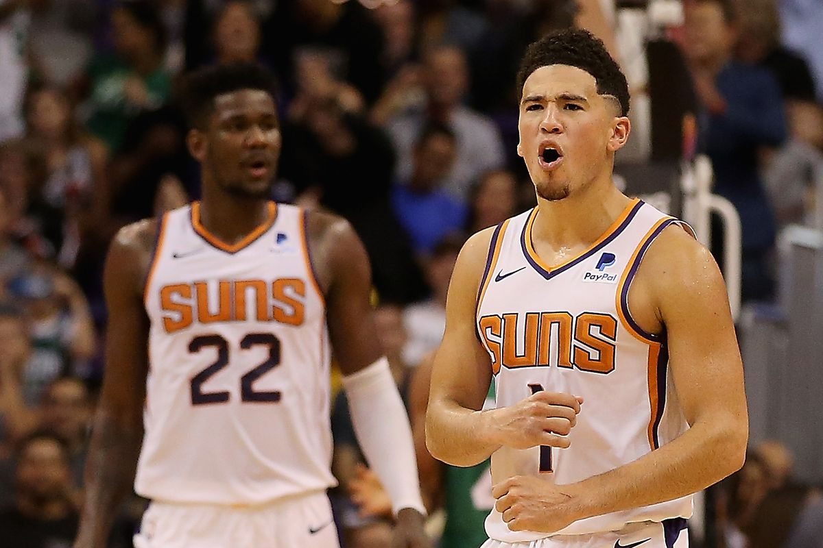 c964ed9c7b7 Devin Booker agrees that Deandre Ayton needs to be fed more in the post