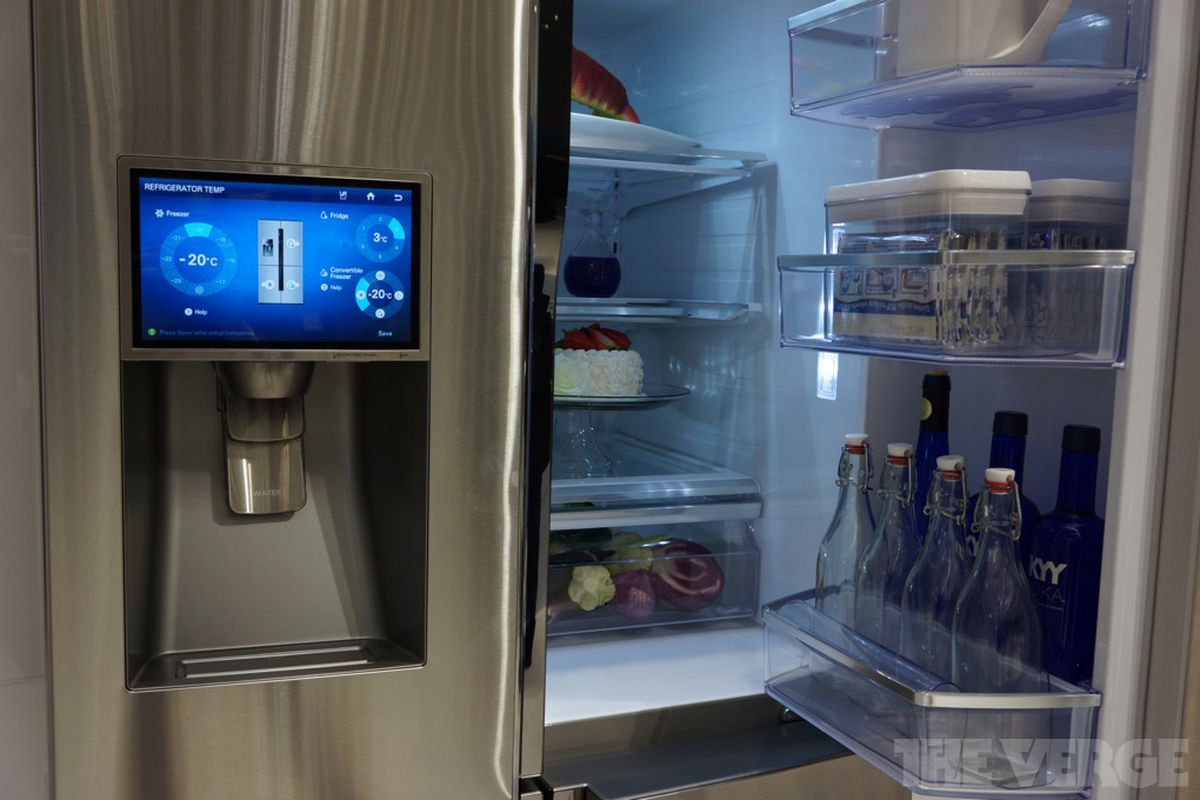 High End Fridges Tweet My Fridge The Bizarre Home Appliances Of Ces The Verge