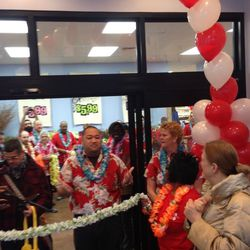 Lei cutting for the grand opening.