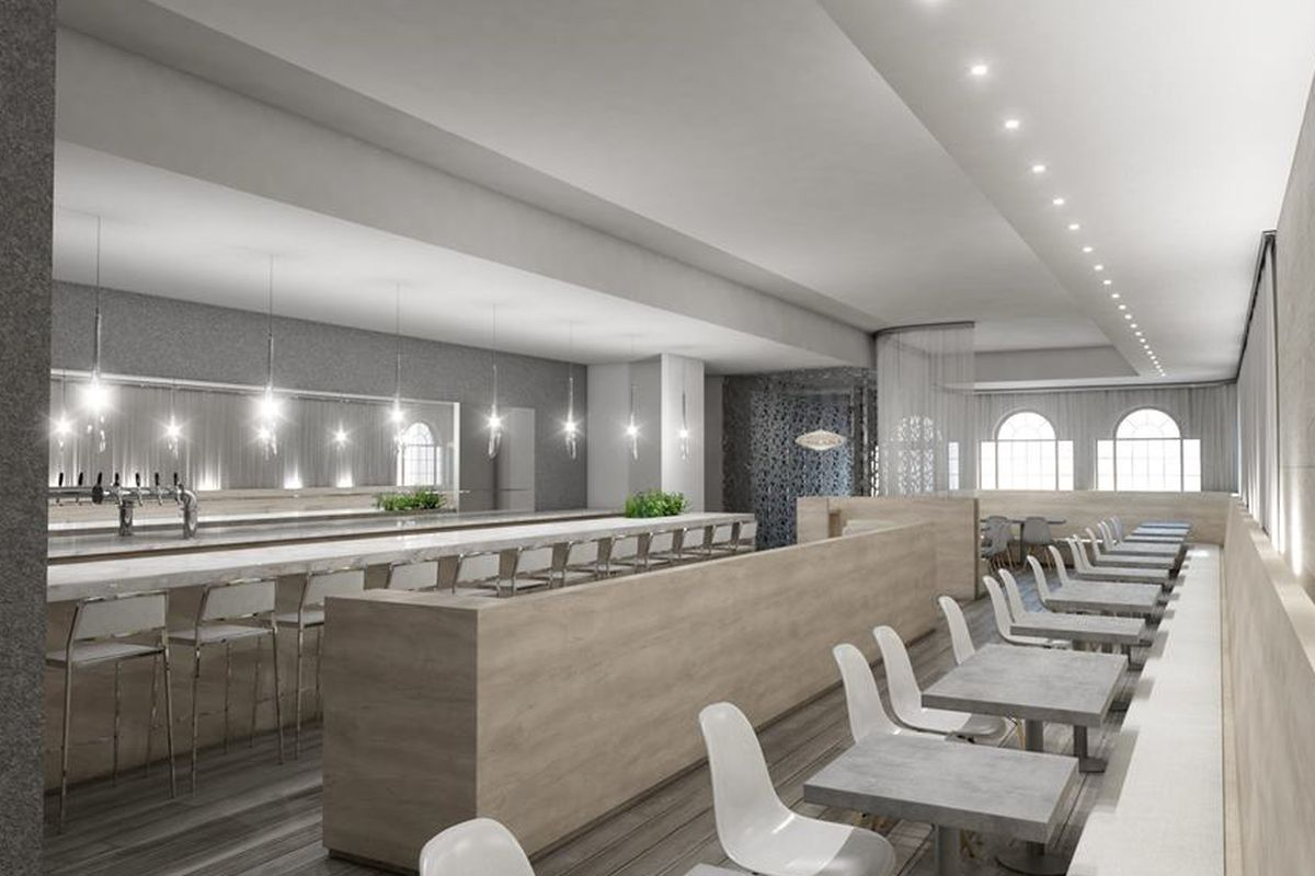 A rendering of the future eve the restaurant.