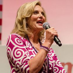 Ann Romney, wife of Republican presidential candidate, former Massachusetts Gov. Mitt Romney, speaks during a during a rally for women event at the University of Findlay on Wednesday, Sept. 5, 2012 in Findlay, Ohio.