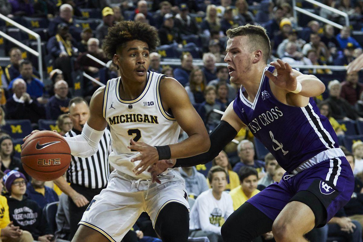 NCAA Basketball: Holy Cross at Michigan