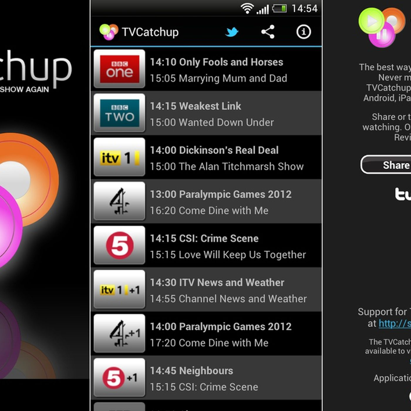 Tvcatchup 2. 3. 3 download for android apk free.