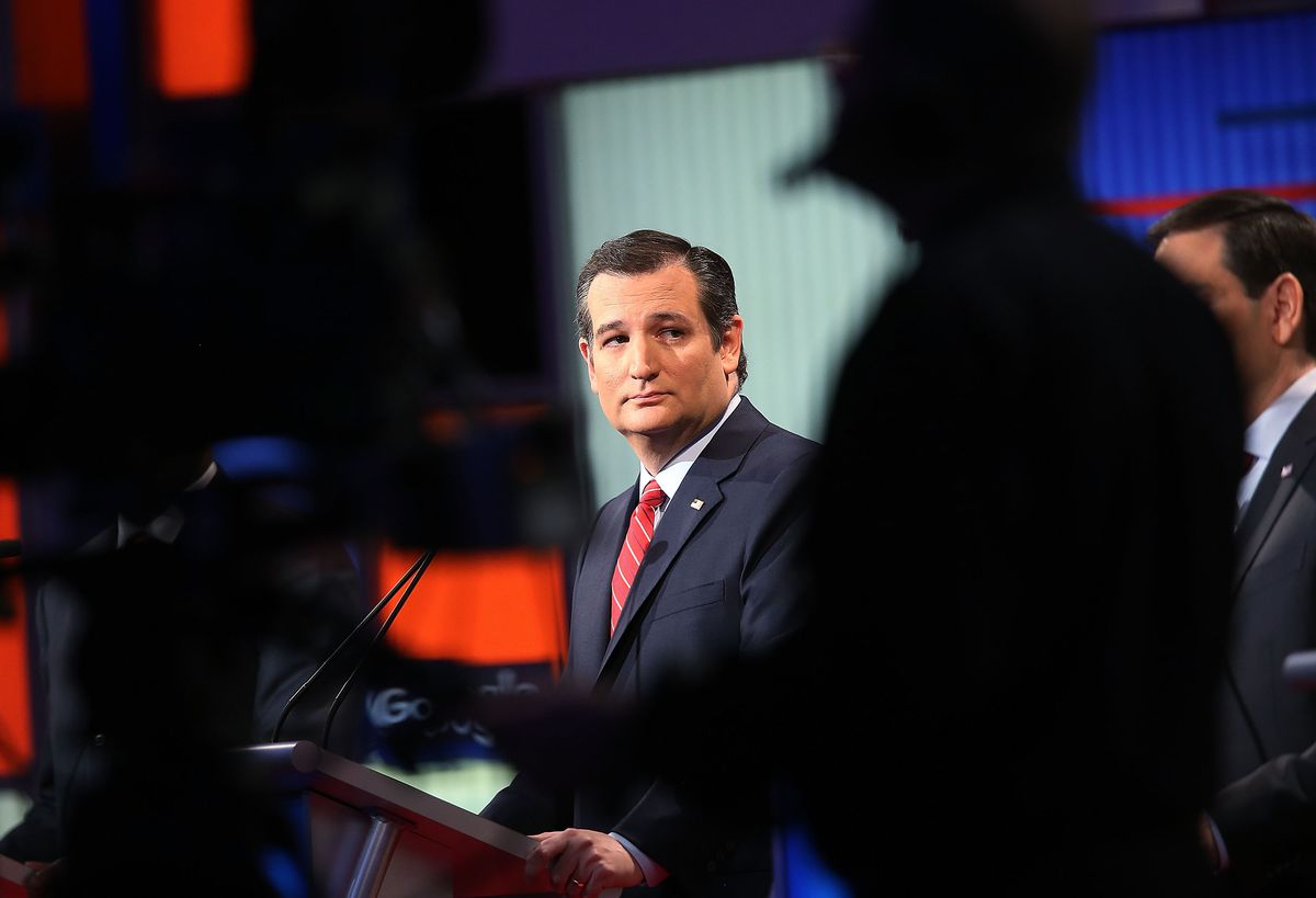 Ted Cruz at the January 28th Fox News debate in Des Moines