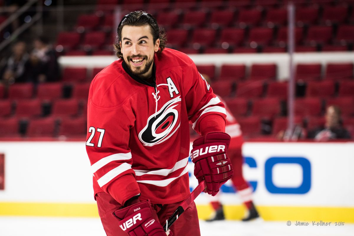 Justin Faulk wore an 'A' during preseason. He'll now wear it for the rest of the season as well.