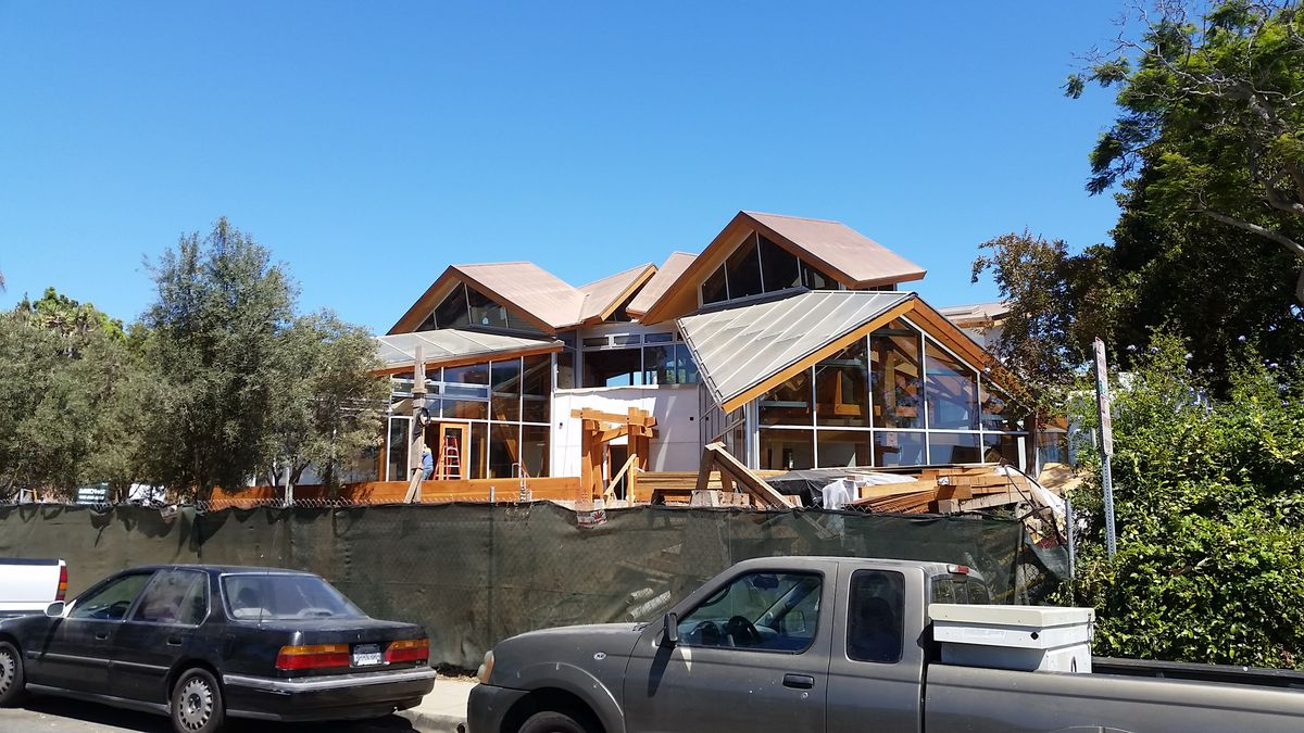 A photo taken last week of the new Santa Monica residence.