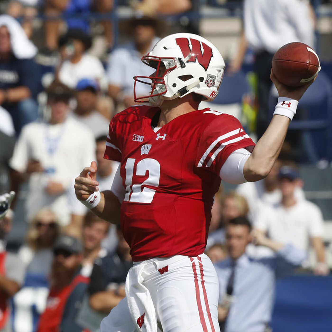 new concept aba19 073ca BYU notebook: Wisconsin's Alex Hornibrook plays nearly ...