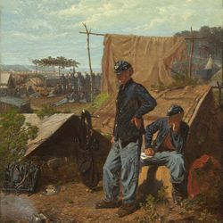"""""""Home Sweet Home"""" (c. 1863) by artist Winslow Homer is among 57 works featured in the exhibition """"The Civil War and American Art"""" at the Smithsonian Institution's National Museum of American Art in Washington, D.C., through April 28. (NMAA/MCT)"""