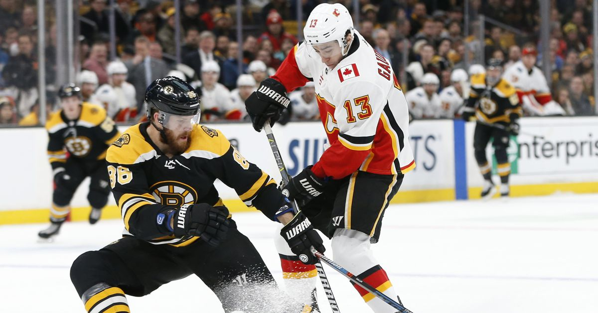 Calgary Flames at Boston Bruins for the 19-20 grudge match on B's home turf