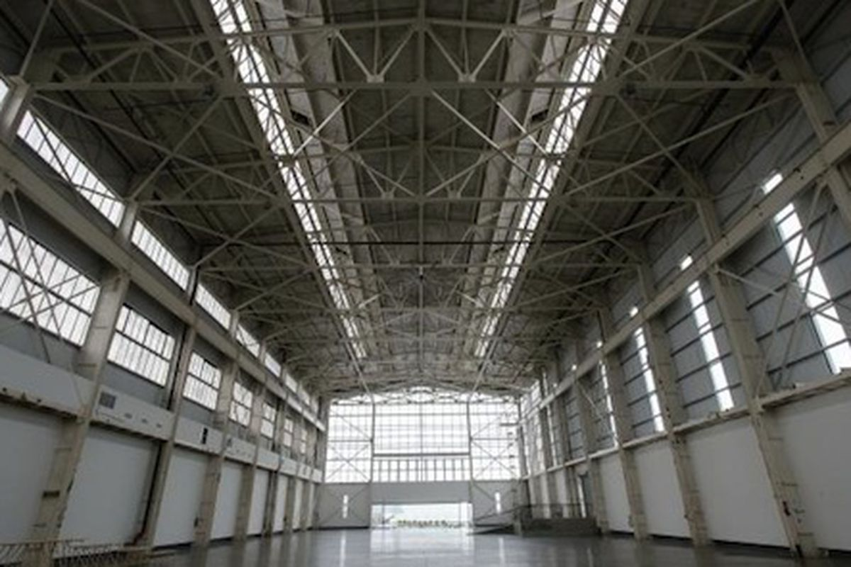 """The Duggal Greenhouse, where Wang held his NYFW fall 2014 show; Image via <a href=""""http://www.nydailynews.com/new-york/fashion-week-watchers-dreading-brooklyn-show-article-1.1586988"""">NYDN</a>"""