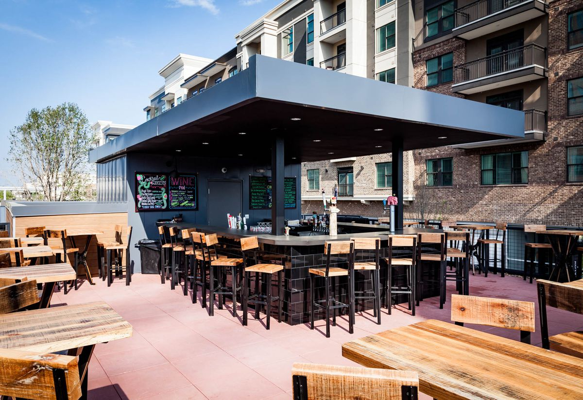 The rooftop bar and patio at Barleygarden