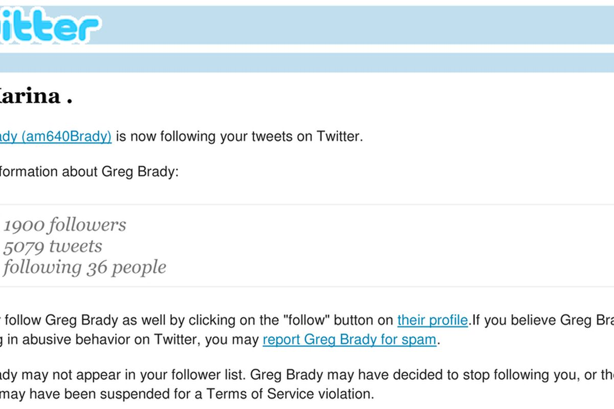 Greg Brady Following Karina: yes, that's right.  I guess I'm not so retarded after all (note: I expect him to unfollow me as soon as this is on my twitter).