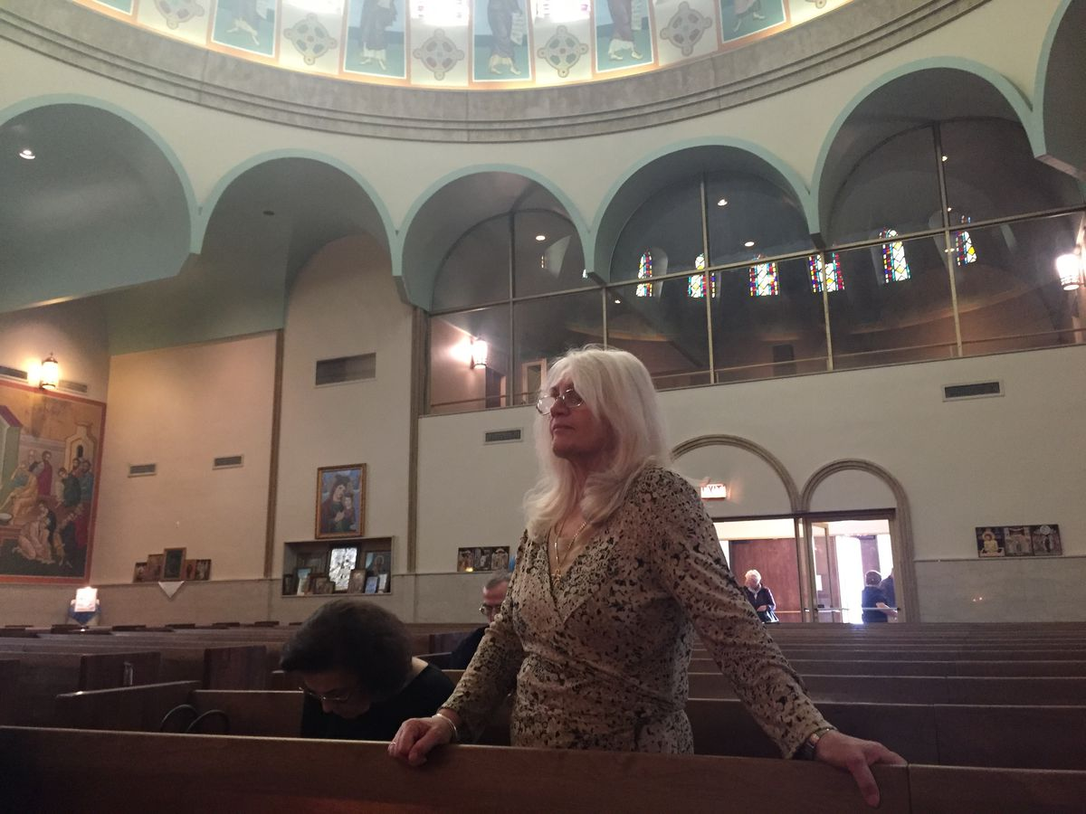 Maria Mandalios, 73, of Morton Grove came to Holy Trinity on Monday to see the weeping Virgin Mary.
