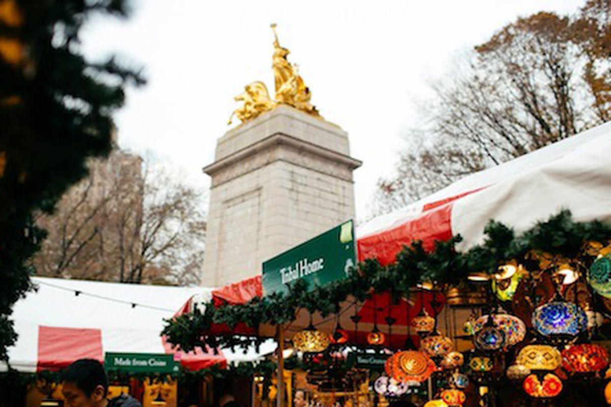 The Columbus Circle Holiday Market; Photo via Urban Space.