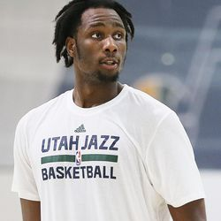 Caleb Swanigan, who once lived in Salt Lake City, finishes a workout with the Utah Jazz on Saturday, June 10, 2017.