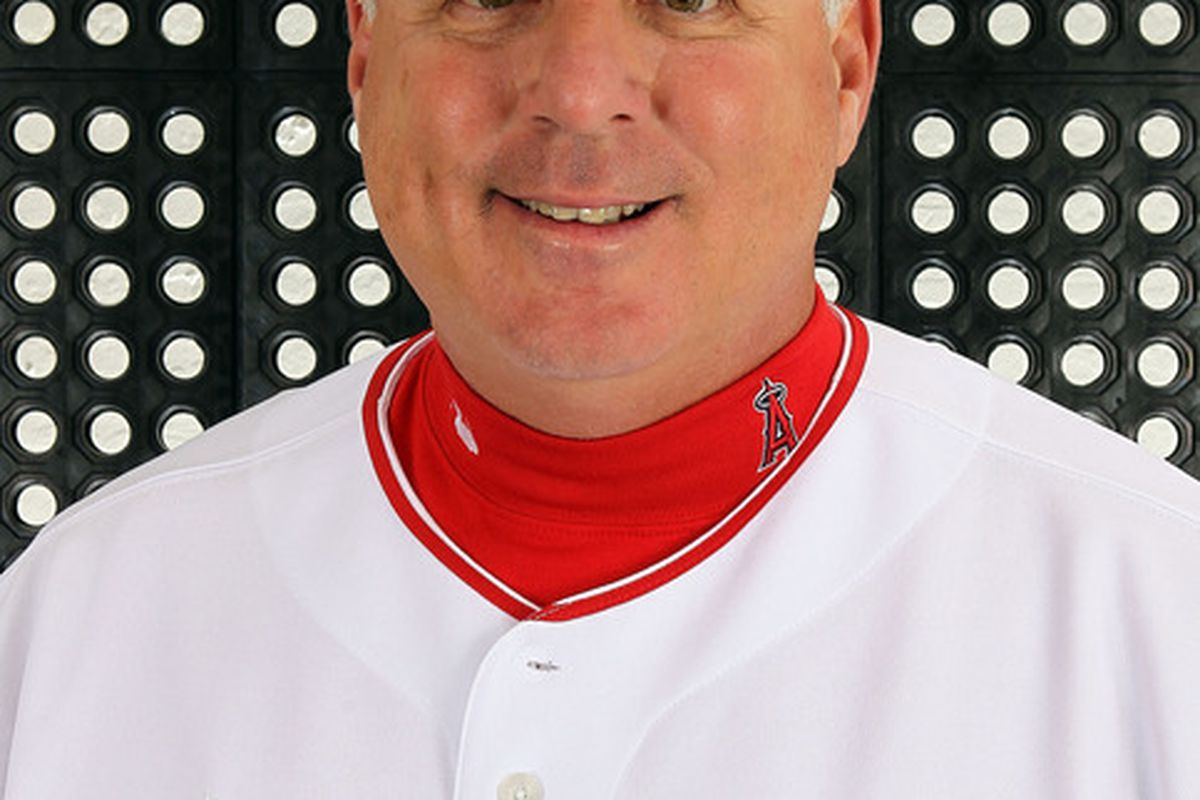 TEMPE, AZ - FEBRUARY 29:  Manager Mike Scioscia #14 of the Los Angeles Angels poses during spring training photo day on February 29, 2012 at Tempe Diablo Stadium in Tempe, Arizona.  (Photo by Jamie Squire/Getty Images)