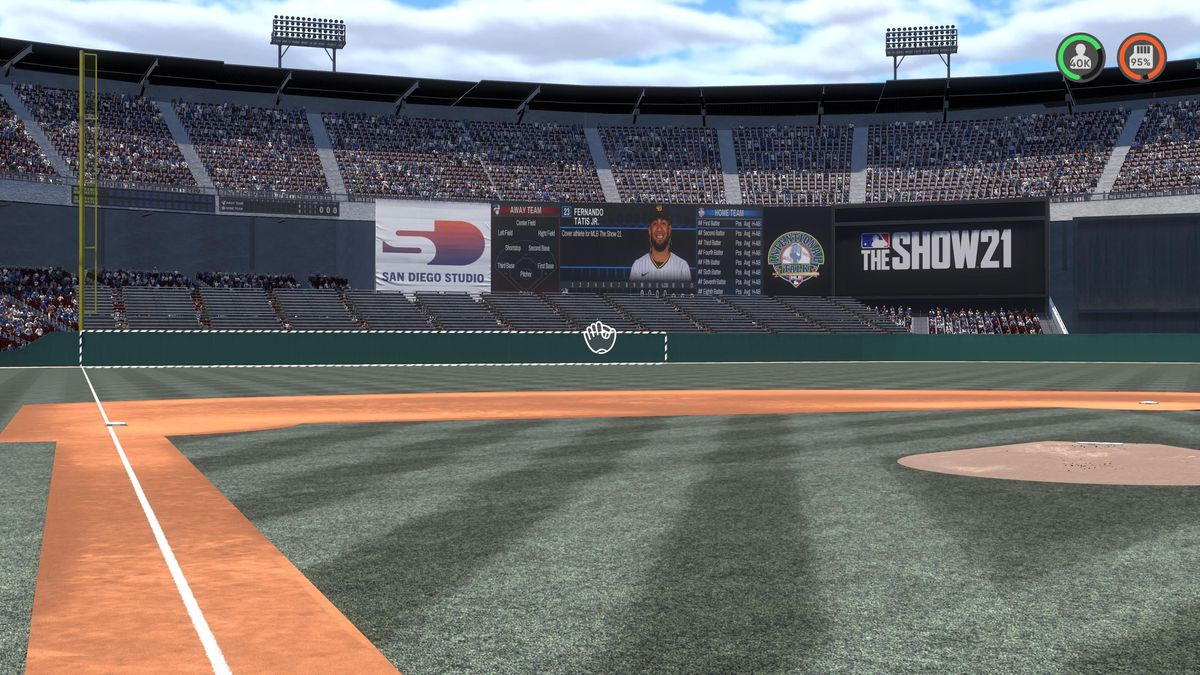 Interior of a fan-created Candlestick Park, former home of the San Francisco Giants, in MLB The Show 21