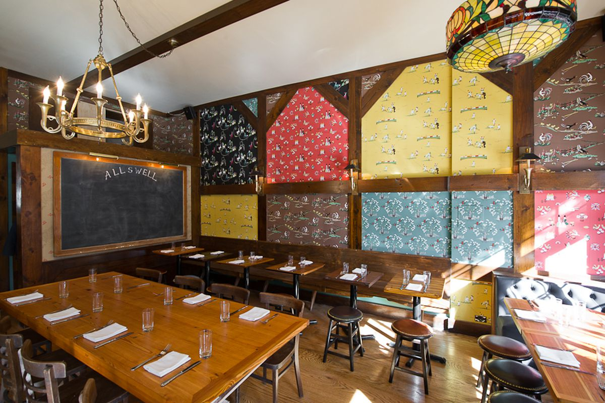 [Allswell in Williamsburg.  A fine place for lunch or dinner today.]