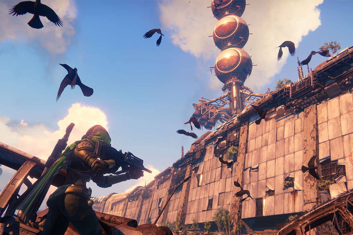 Destiny - a Guardian in the Cosmodrome on Earth