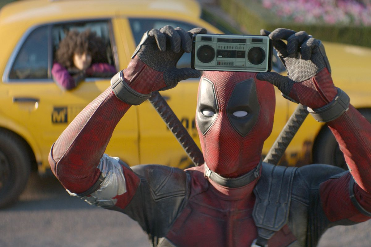 """This image released by Twentieth Century Fox shows Ryan Reynolds in a scene from """"Deadpool 2."""""""