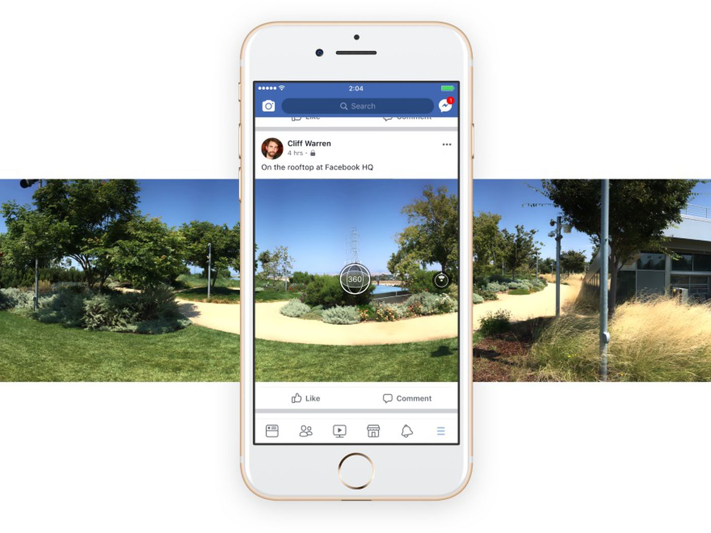 Facebook now lets you shoot 360-degree photos inside its app - The Verge