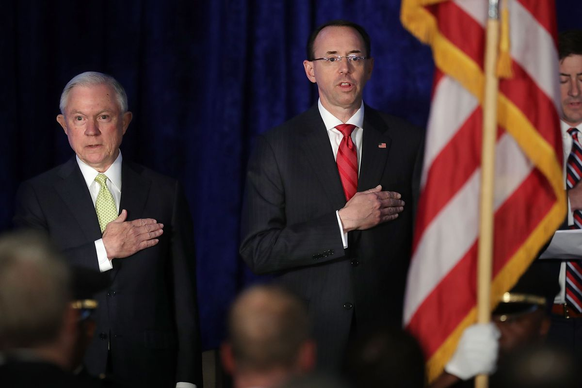Sessions and Rosenstein, in June 2017