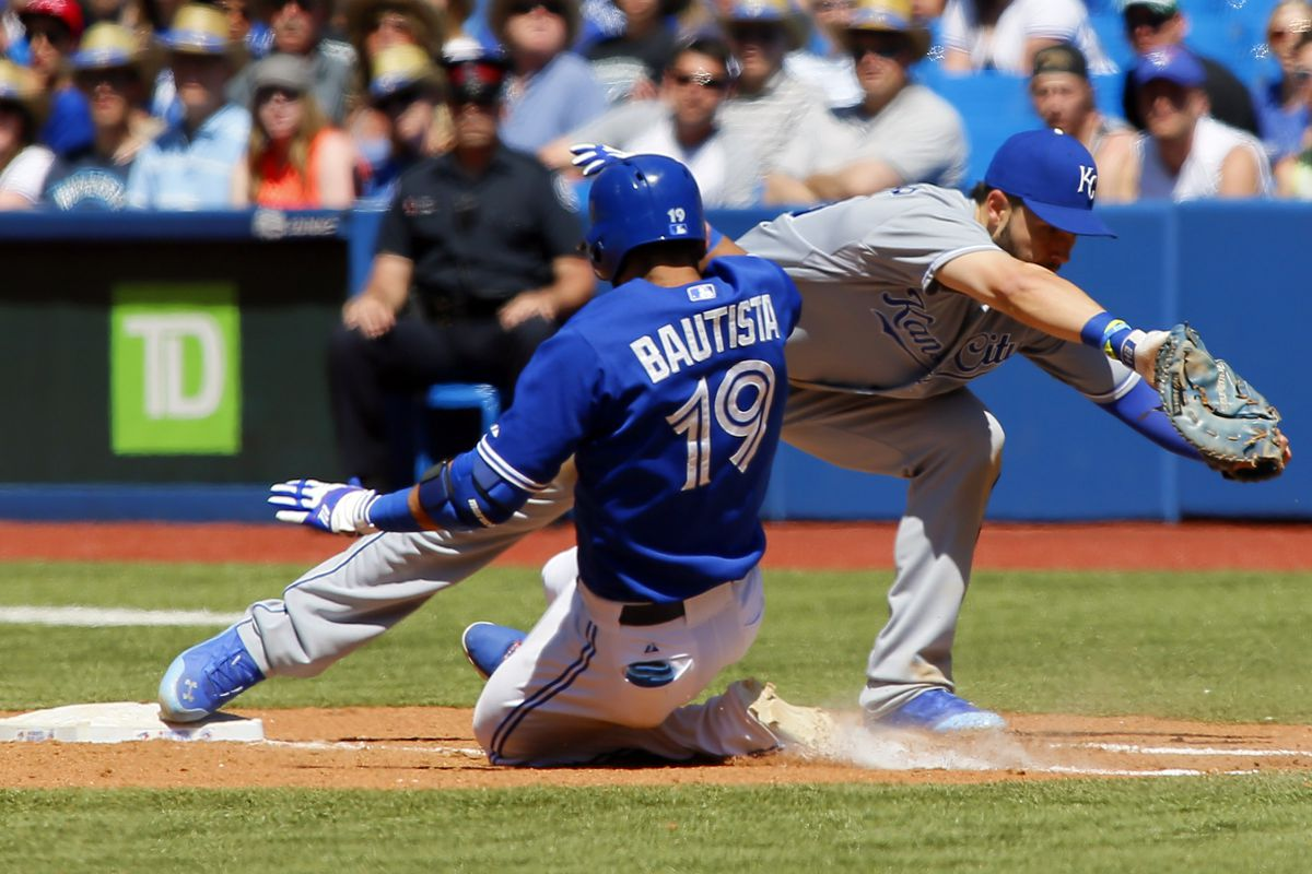 When the Royals and Blue Jays play a game, how can you tell them apart?