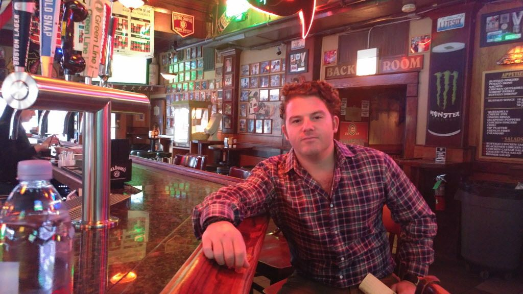 """Ari Strauss, general manager of Sluggers World Class Sports Bar, 3540 N. Clark St., says new business in Wrigleyville might bring competition but also """"create a more vibrant neighborhood year-round.""""   Alex Nitkin / Sun-Times"""